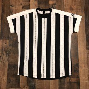 Adidas Sportswear Vertical Stripe T-Shirt